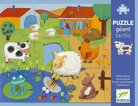 Puzzle Tactilo ferme 20 pièces