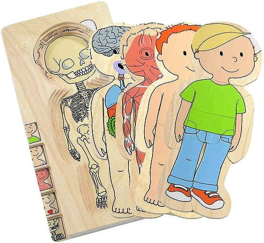Puzzle superposable ton corps garçon