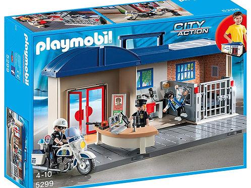 Playmobil 5299 commissariat de police transportable