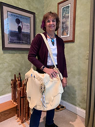 Deerskin carry bag, handmade on Cape Cod