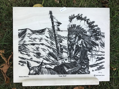 """""""Lone Wolf""""marble plaque"""