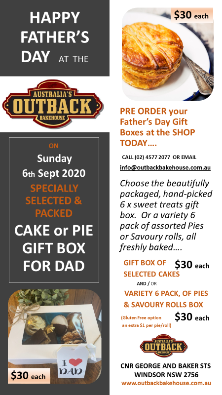 Father's DAY Specially Selected and Packed CAKE or PIE GIFT BOX for DAD