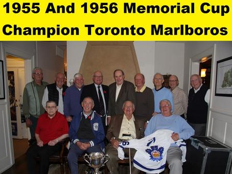 Very Rare 62 Year Reunion of 1955 and 1956 Memorial Champion Toronto Marlboros