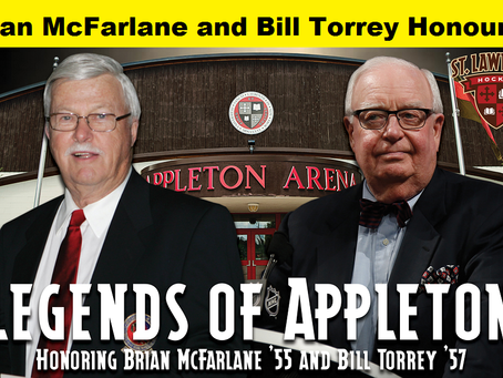 Brian McFarlane and Bill Torrey honoured by St. Lawrence University