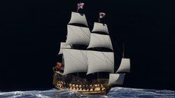 First rate ship of the line HMS Prince (1670)