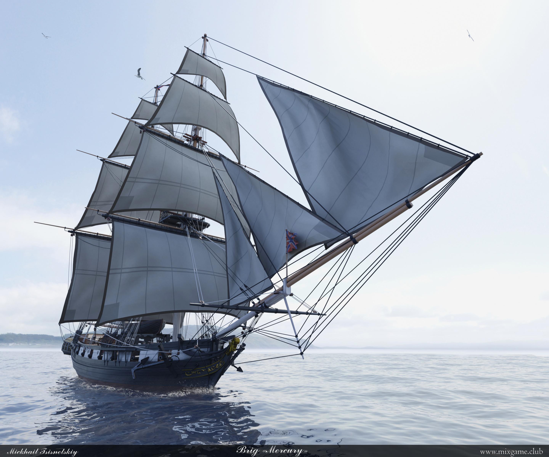 Russian brig Mercury