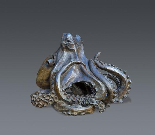 Jean Lemonnier - Pieuvre bronze  H 50,75
