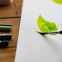 水彩色鉛筆の描き方