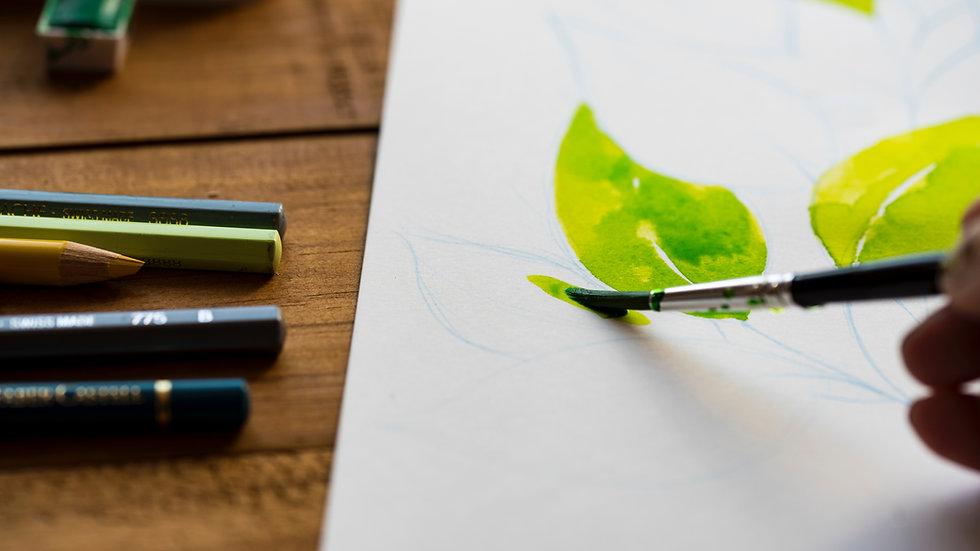 L'aquarelle au crayon