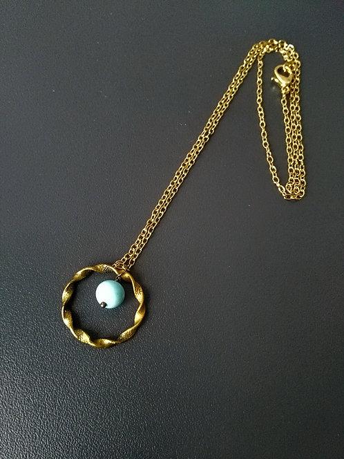 Collier anneau torsadé - REF 205