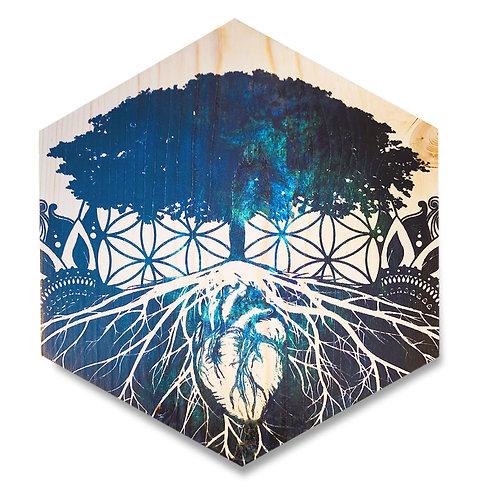 """Rhythm of Truth"" Large Hexagon Wood Art"