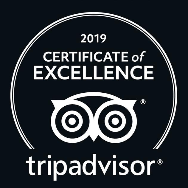 Certificate of Excellence Tripadvisor _