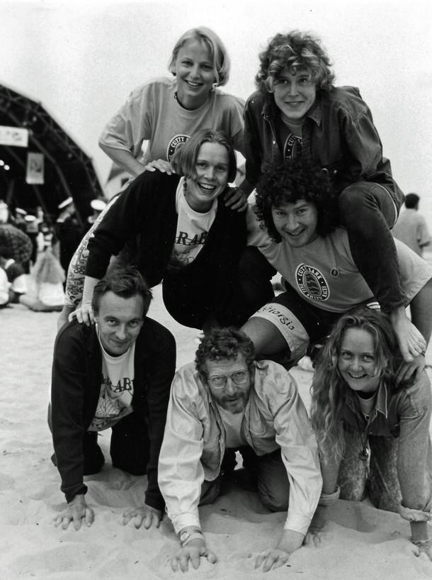 Crew pyramid in Weymouth