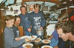 Meal on board Marabu