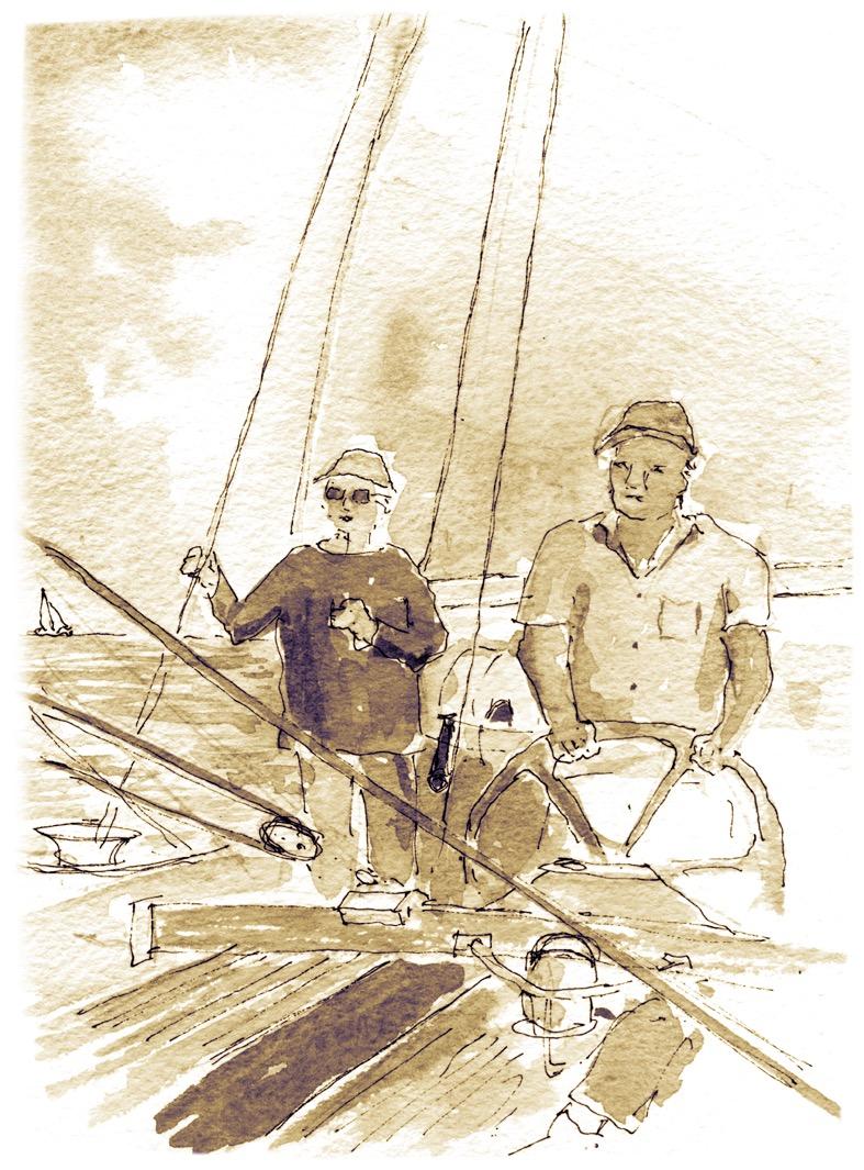Crew on deck