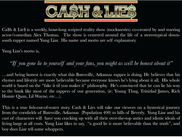 Cash & Lies - Synopsis