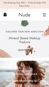 Health & Beauty website templates – Makeup Store
