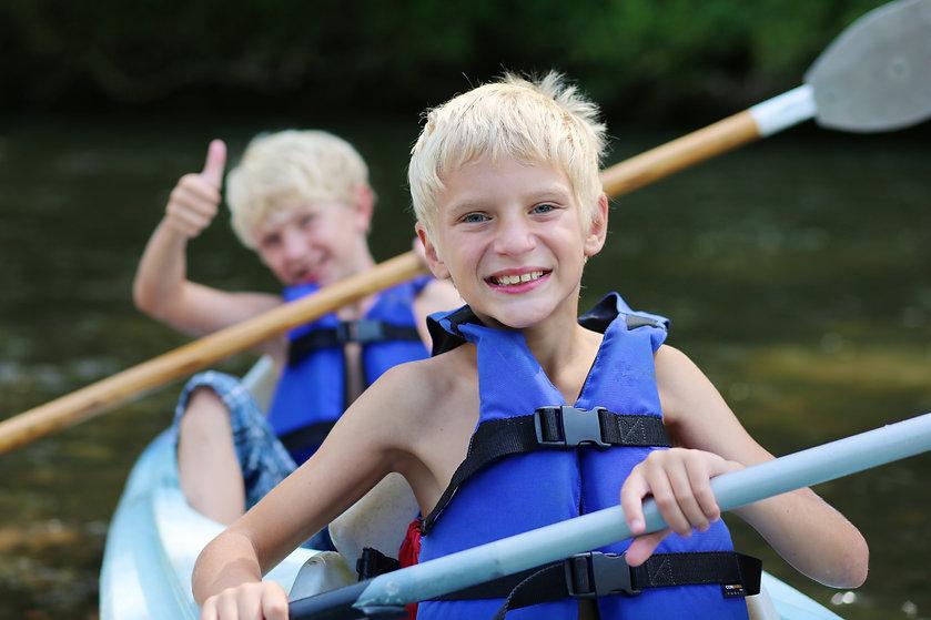 Active happy twin brothers, teenage scho