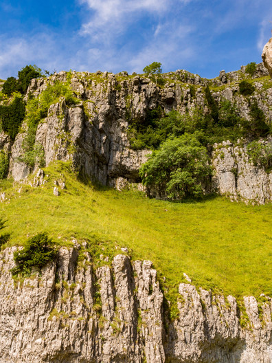 Amazing rock formations at Goredale Scar