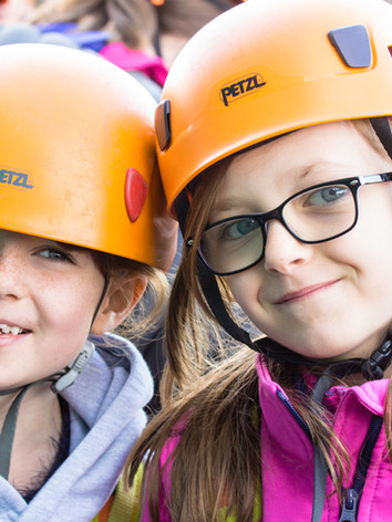Happy girls on an activity holiday