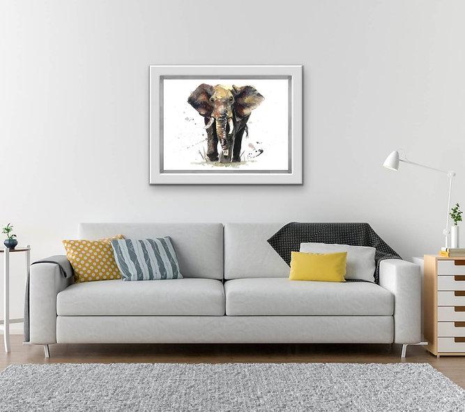 elephant small framed.jpeg