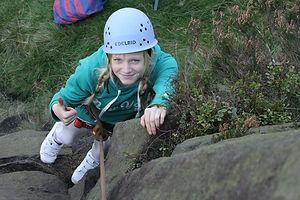 Climbing Earl Crag