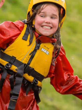 Girl enjoying watersports