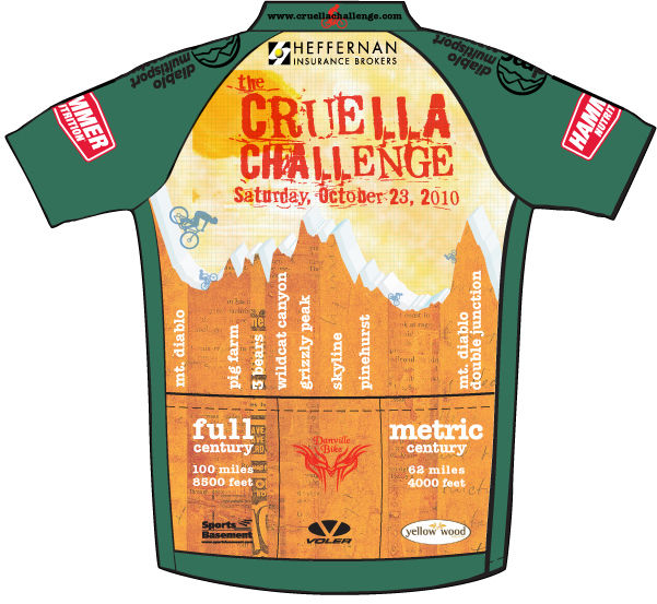 Cycling jersey for charity ride