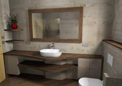 Badezimmer Massivholz Innenarchitektur