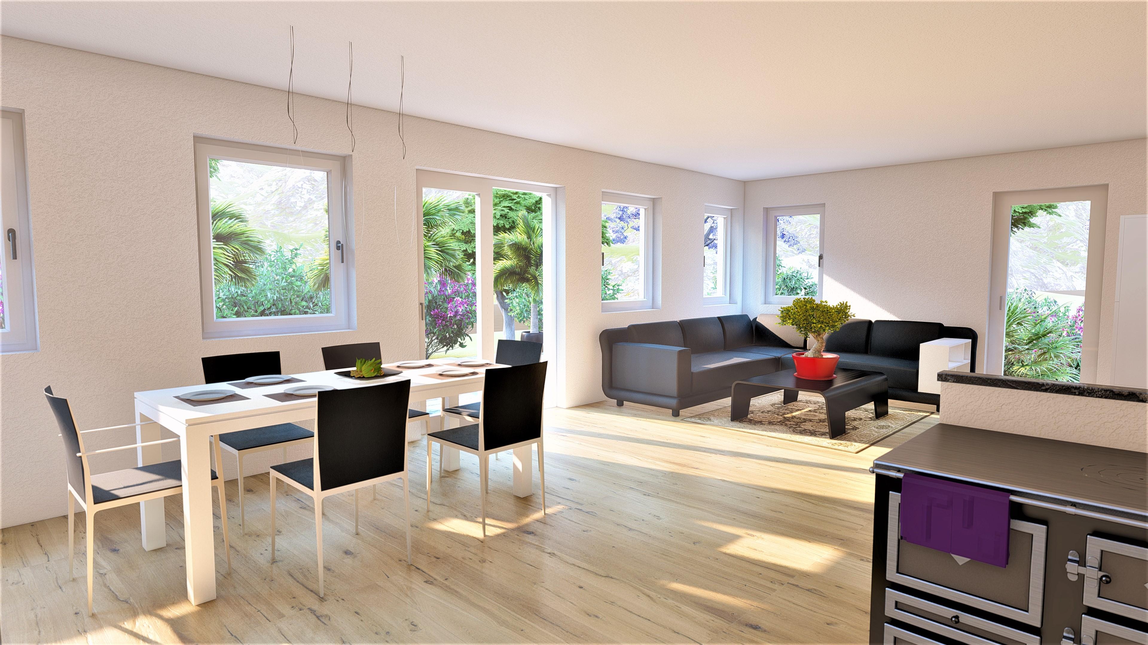 Wohnraum Innenarchitektur Esszimmer