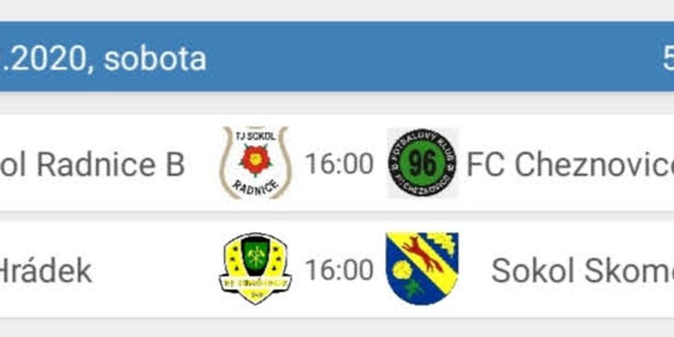 Zápasy ve fotbale mužů plánované na tento víkend