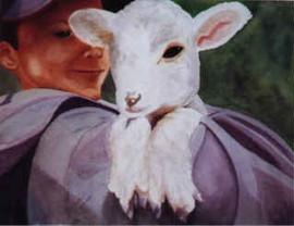 Cuddling Lamb