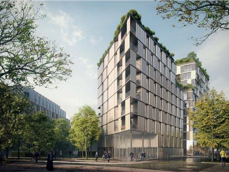 Zac Paul Bourget Paris 13émé : logements sociaux, médiathèque et résidence étudiante. Concours