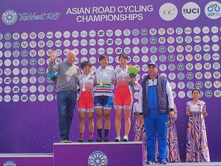 アジア選手権女子ジュニアロード 岩元 準優勝