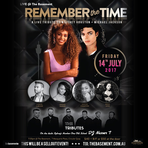 Remember The Time - A live tribute to Michael Jackson & Whitney