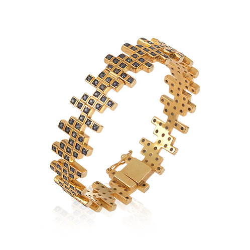 ZigZag Sapphires Bangle