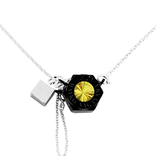 Lost & Found Black NANO Ceramic Coated Solid Sterling Silver Necklace
