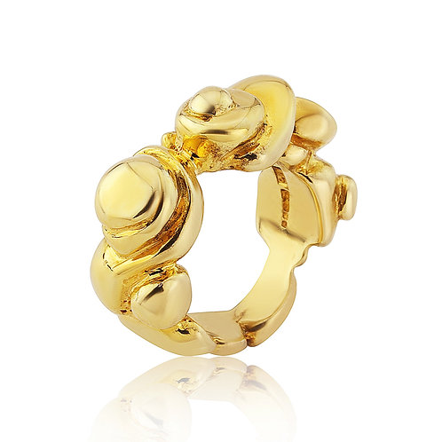 Enceladus Yellow Gold Vermeil Ring