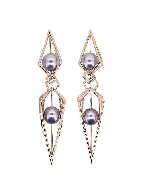 Depth Perception Rose Gold Vermeil Earrings