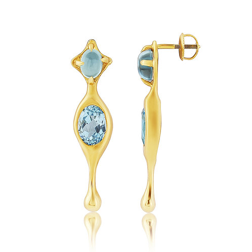 Enceladus Blue Topaz Earrings