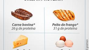 Alimentos com baixo carboidrato e ricos em proteína