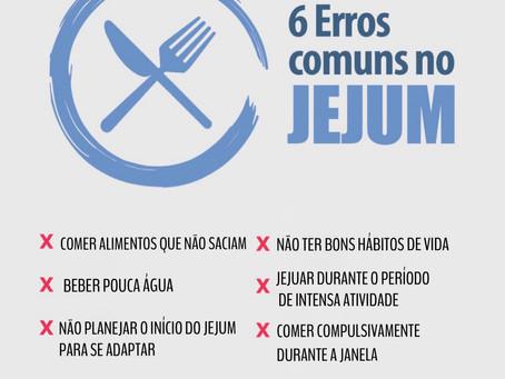 6 ERROS COMUNS NO JEJUM