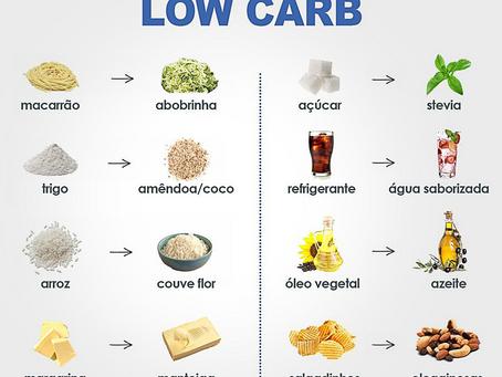 Substituições na dieta low carb