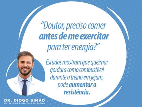 PRECISO COMER ANTES DE EXERCITAR PARA TER ENERGIA?