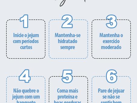 6 DICAS DE COMO JEJUAR EM SEGURANÇA