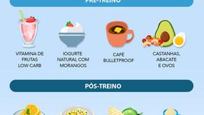 DIETA LOW CARB, PRÉ-TREINO E PÓS-TREINO