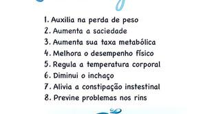 8 Benefícios da água.