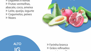ÍNDICE GLICÊMICO DE BAIXO E ALTO IG