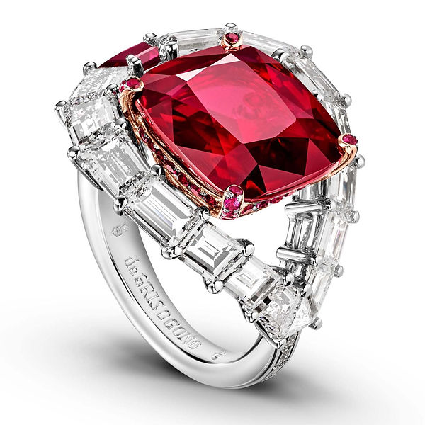 7.Ruby and diamond engagement ring from