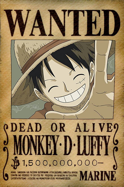 MONKEY D LUFFY - Affiche wanted A3
